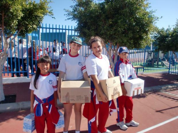 """El Colegio con las asociaciones """"Cruz Roja y """"Calor y Café"""""""