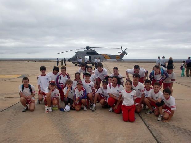 Visita al aeródromo Militar.