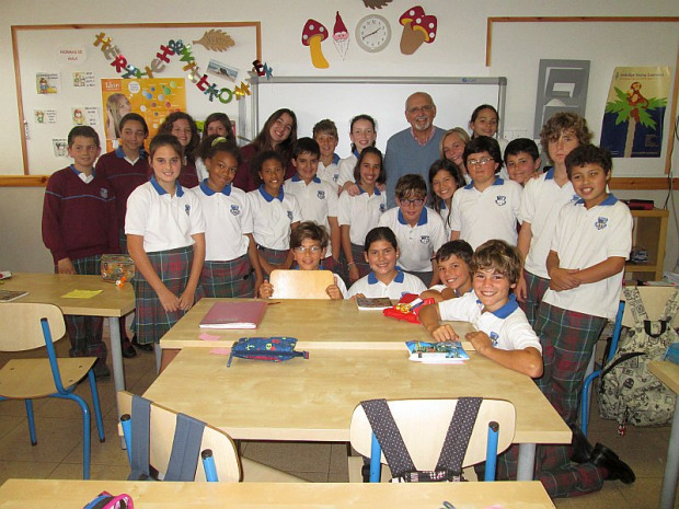 Visita del escritor Joaquín Nieto Reguera.